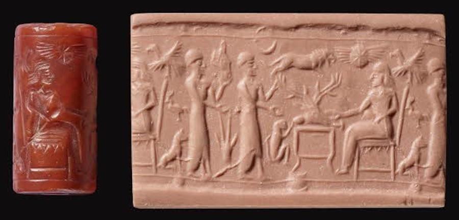 nineveh babylon cylinder seal sacrifice
