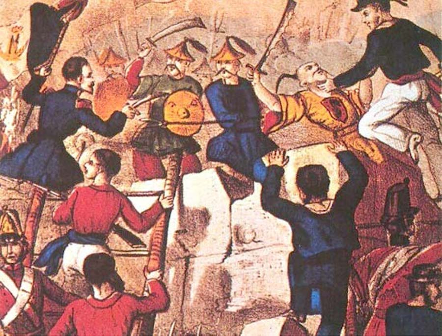 opium wars china battle