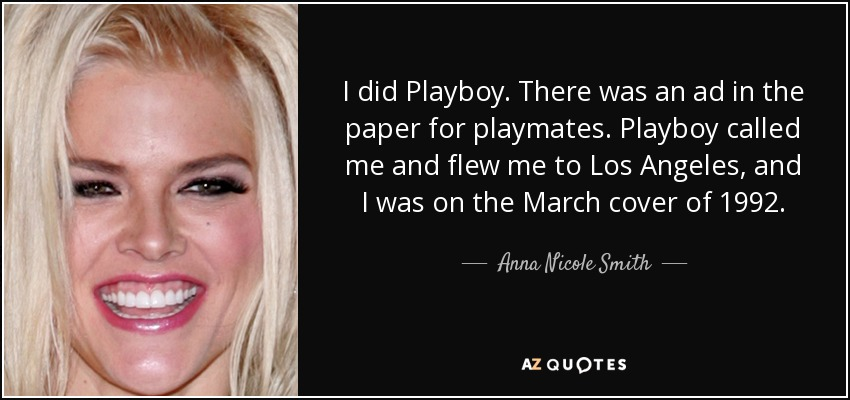 playboy anna nicole smith los angeles