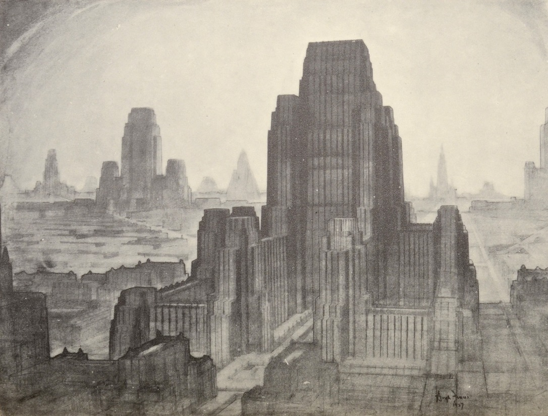 Rockefeller Center The Metropolis of Tomorrow by Hugh Ferriss