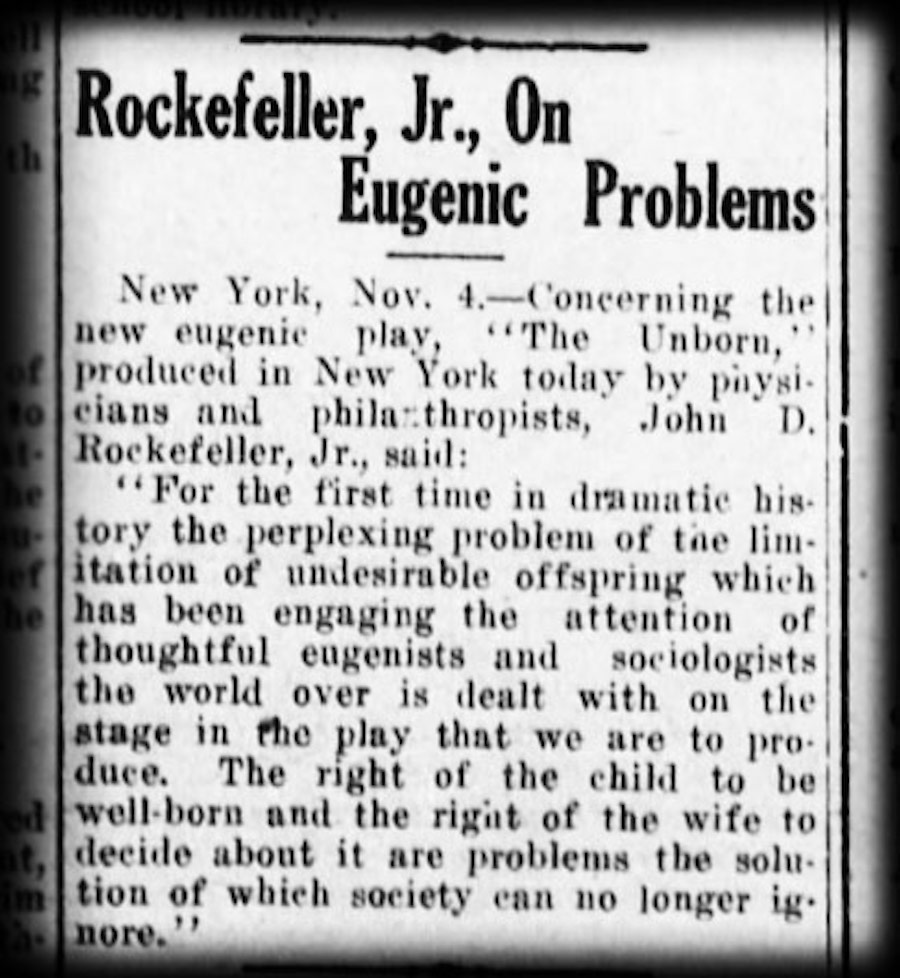 rockefeller news eugenics