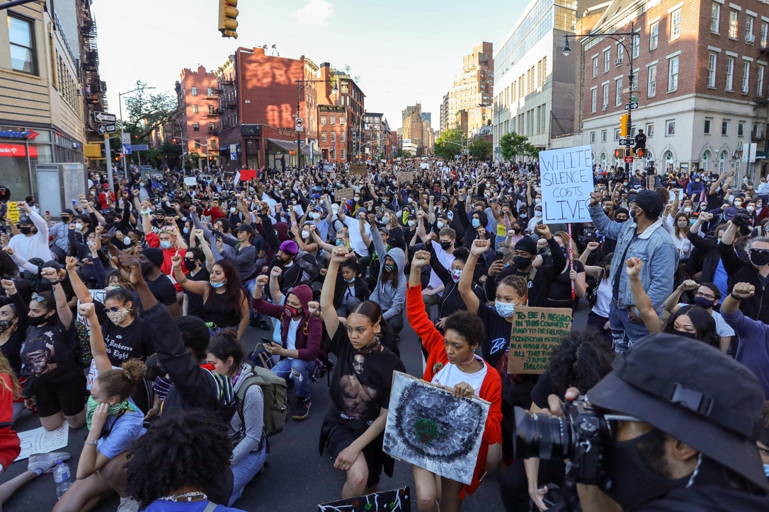 Protest after the death of George Floyd, New York, USA - 31 May 2020