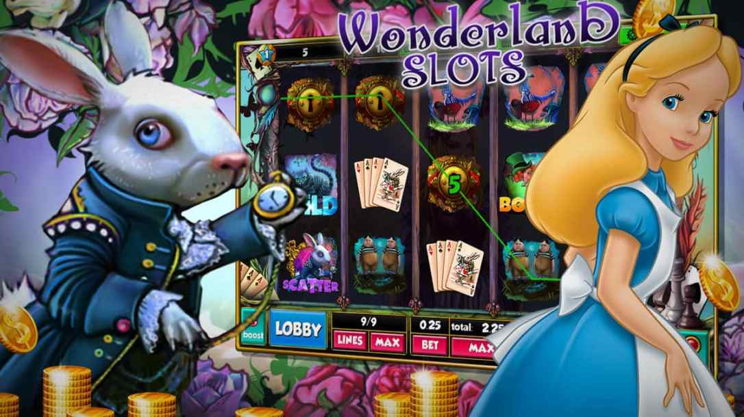 slot machine alice in wonderland