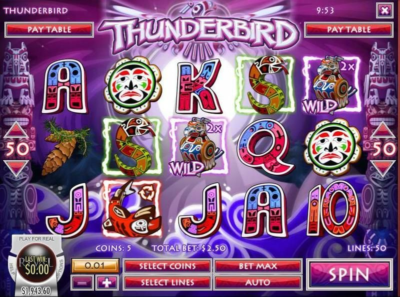 slot machine thunderbird