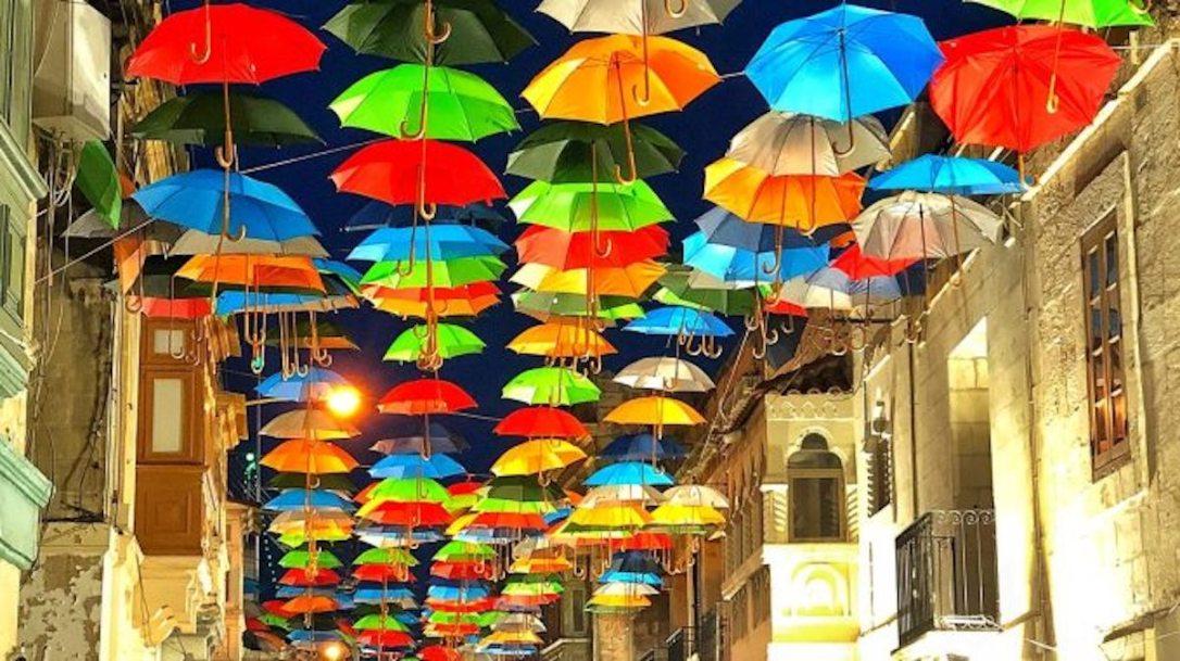 umbrella street malta